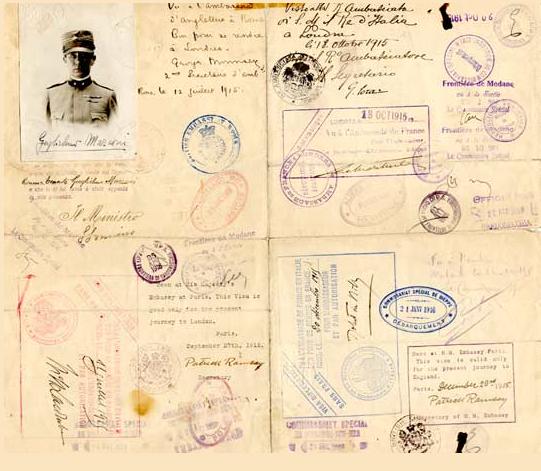 passaporto marconi 1915